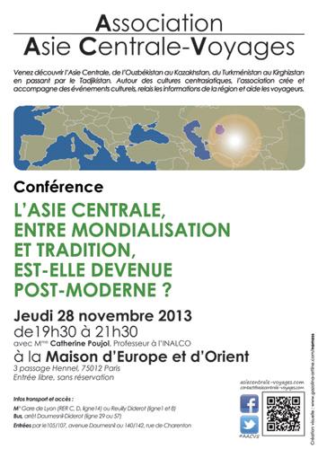 Affiches, Conférence de Mme Catherine Poujol