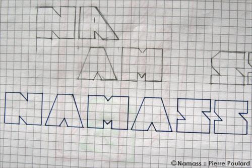 Etude d'une typographie autour du mot : NAMASS