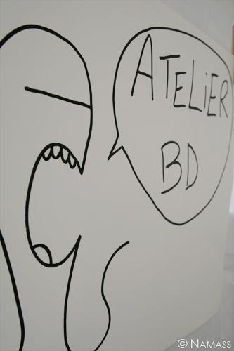 Affiche de l'atelier BD