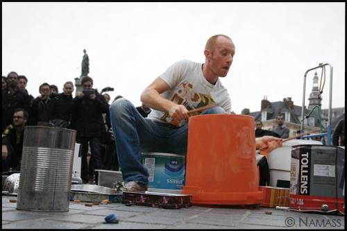 Percussioniste sur la grand place  de Lille