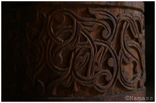 Photo colonne de bois, Khiva
