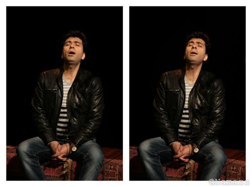 Chanteur en deux images, presque identique