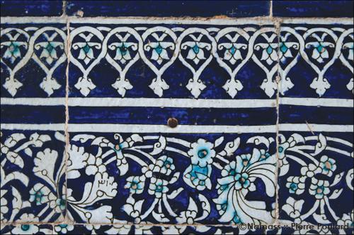 Carreau sur les murs de la cité de Khiva