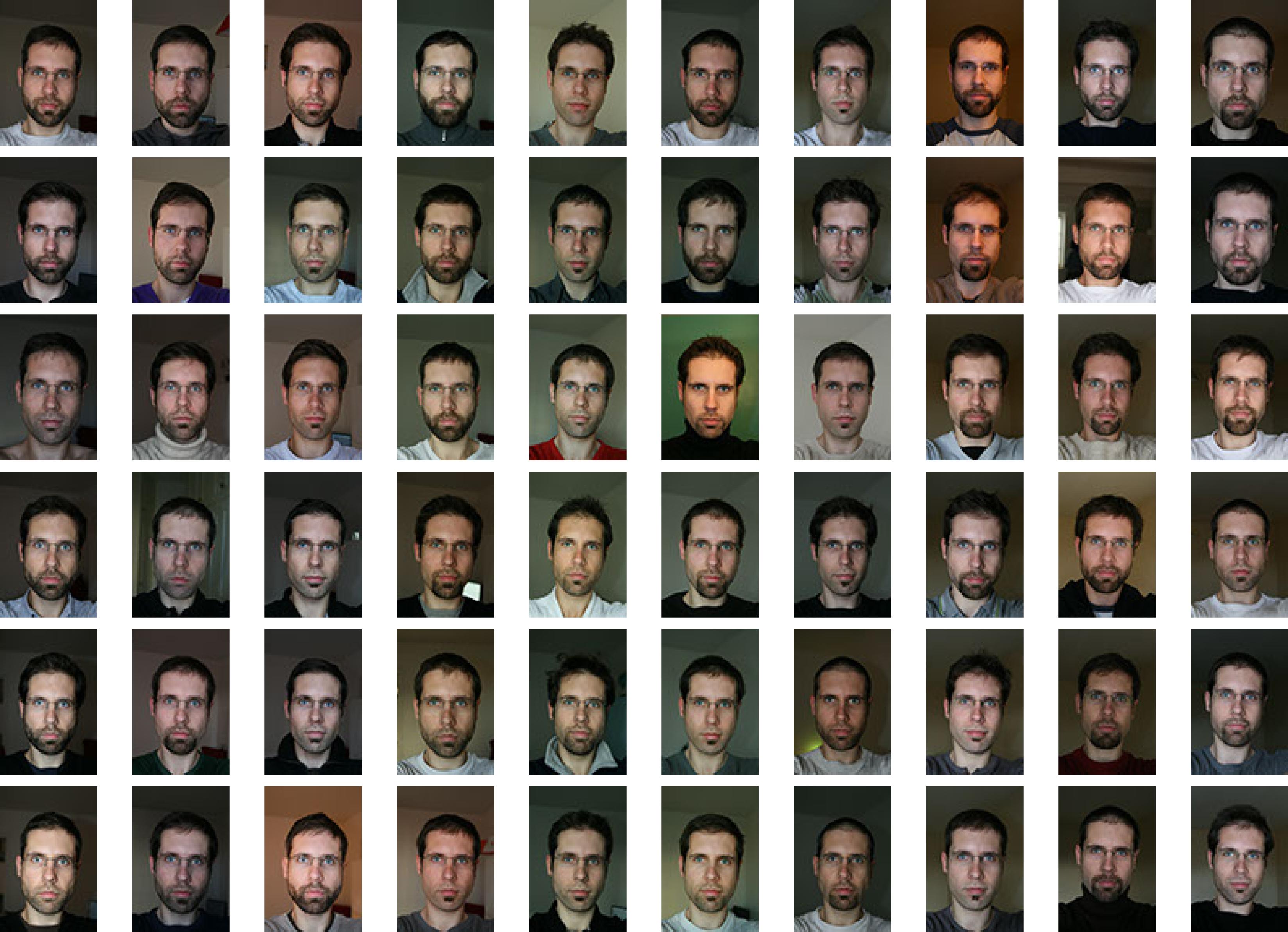 Photos d'identités de Namass dans le cadre du Narcisse Project