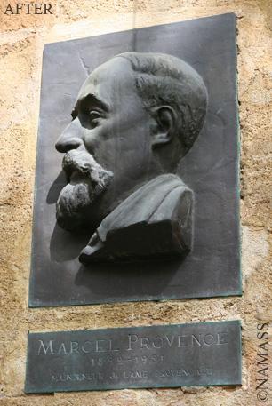 Portrait de la statut de Marcel Provence